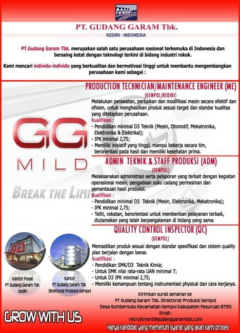 Lowongan kerja GG Mild